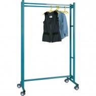 Garderobenständer, fahrbar, Höhe 190 cm, 180 cm breit, mit Kleiderstange,