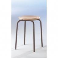 Vierbein-Hocker, Sitzhöhe 45 cm, stapelbar,
