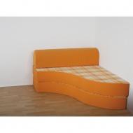 Entspannungs-Element-Sofa mit Rückenrolle, 120x133 cm (B/T), Höhe 40 cm,