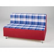 Entspannungs-Element-Zweierbank mit Lehne, Sitzfläche 104x72 cm (B/T), Höhe 70 cm,