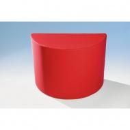 Sitzelement, Hocker halbrund, 112x56 cm (B/T), Höhe 80 cm,