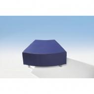 Sitzelement, Achtelkreiselement, 79x66 cm (B/T, Höhe 40 cm,