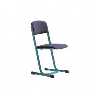 Lehrerstuhl, Sitz- und Rückenpolster, Doppel-U-Fuß, Sitzhöhe: 46 cm