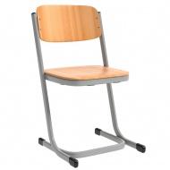 Schülerstuhl, geschlossener Sitzträger, Doppel-U-Fuß,