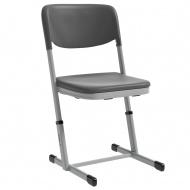 Schülerstuhl, Luftpolster, geschlossener Sitzträger, T-Fuß, höhenverstellbar 42-50 cm