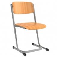 Schülerstuhl, vorn abgerundete Sitzfläche, Doppel-U-Fuß, höhenverstellbar 34-42 cm