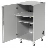 Medienschrank, fahrbar, 105 cm hoch, 54x62 cm (B/T), 1 Rollzug, 1 Boden,
