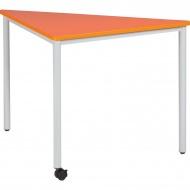 Dreieckstisch, 113x80 cm, beweglich, 1 Fuß mit Rolle,