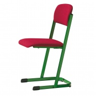 Lehrerstuhl, Sitz- und Rückenpolster, U-Fuß,