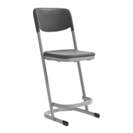 Schülerstuhl, Luftpolster, hoch für Stehtisch, mit Rückenlehne, Sitzhöhe 60 cm,