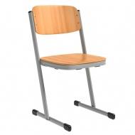 Schülerstuhl, geschlossener Sitzträger, T-Fuß,