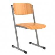 Schülerstuhl, vorn abgerundete Sitzfläche, T-Fuß,