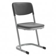Schülerstuhl, Luftpolster, geschlossener Sitzträger, U-Form-Gestell,