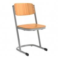 Schülerstuhl, geschlossener Sitzträger, U-Fuß,