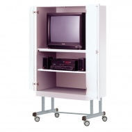 TV-Schrank, fahrbar, 190 cm hoch,  96x57 cm (B/T), 1 Boden,