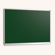 Wandtafel Stahlemaille grün, 100x 70 cm, mit durchgehender Ablage,
