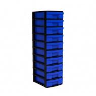 Schubladen-Container, 102 cm hoch, 30x38,8 cm (B/T), 1-reihig,