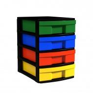 Schubladen-Container,  42 cm hoch, 30x39 cm (B/T), 1-reihig,
