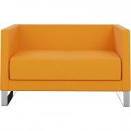 Sofa, 2-Sitzer, 123x68 cm (B/T), Kufengestell - Chrom,