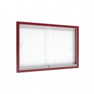 Info-Wandvitrine,  93 cm hoch, 150x8,0 cm (B/T), Rückwand: Emaille weiß,