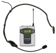 Funk-Kopfbügelmikrofon, für Sound Boxen mit Funkmikrofon-Empfänger,