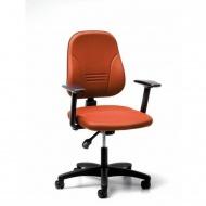 Bürodrehstuhl mit T-Armlehnen, Sitz- und Rückenlehne gepolstert, Neigemechanik,