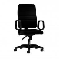 Bürodrehstuhl mit Ringarmlehne, Sitz- und Rückenlehne gepolstert,
