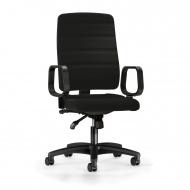 Bürodrehstuhl mit Armlehnen, Sitz- und Rückenlehne gepolstert,
