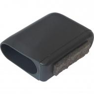 ERSATZTEIL: Fußkappe für Stuhl ALSH, flachoval 40 x 20 mm mit Filz (Clix)