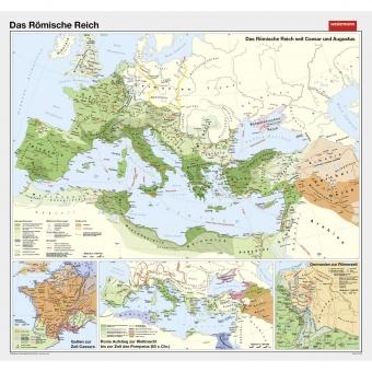 Römisches Reich Karte.Wandkarte Das Römische Reich 210 X 200 Cm Erstling De Günstig