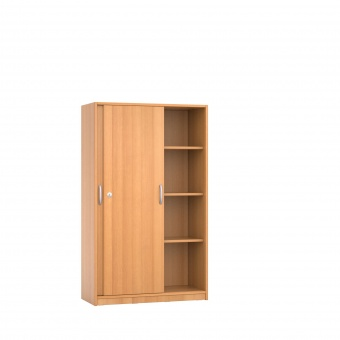 schrank 150 cm hoch 90x60 cm b t schiebet ren 3 b den 4oh g nstig online. Black Bedroom Furniture Sets. Home Design Ideas