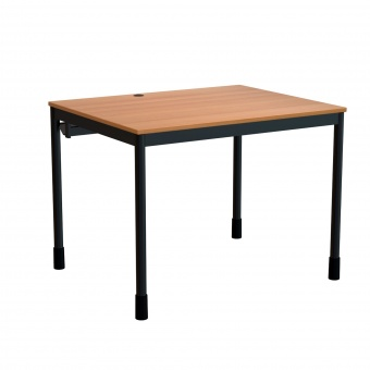 edv tisch 100x80 cm b t 72 cm hoch offener blechkabelkanal g nstig online. Black Bedroom Furniture Sets. Home Design Ideas