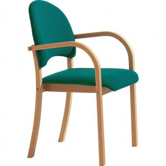 holz polsterstuhl mit armlehnen mit sitz und r ckenpolster g nstig online kaufen. Black Bedroom Furniture Sets. Home Design Ideas