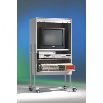 tv schrank fahrbar 190 cm hoch 105x60 cm b t 1 boden mit rollo g nstig. Black Bedroom Furniture Sets. Home Design Ideas
