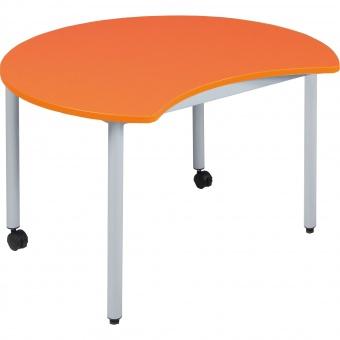 runder tisch mit k rperausschnitt 100 cm durchmesser 72 cm hoch fahrbar. Black Bedroom Furniture Sets. Home Design Ideas
