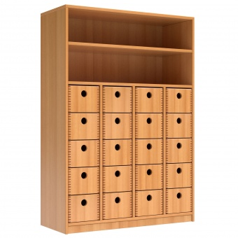 Schrank Mit 20 Massivholzkasten 144 Cm Hoch 100x40 Cm B T