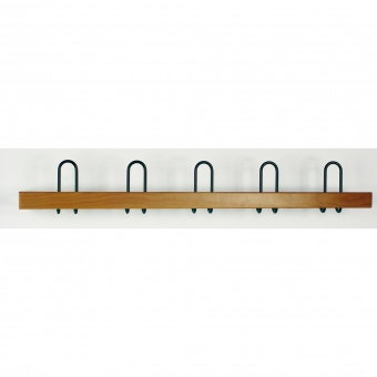 garderobenleiste holz flach 1 meter 5 haken g nstig. Black Bedroom Furniture Sets. Home Design Ideas