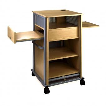 medienschrank fahrbar 110 cm hoch 65x60 cm b t abschlie bares rollo. Black Bedroom Furniture Sets. Home Design Ideas