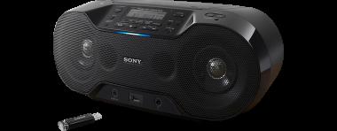 CD-Player Sony ZS-RS70BTB, USB, Bluetooth, MP3, schwarz, Gewicht 3,3kg