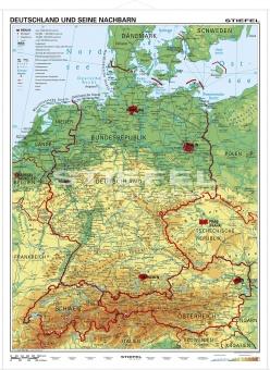 Xxl Deutschlandkarte Topografisch K704k 100 X 70cm Lieferung