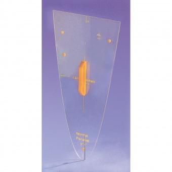 parabel schablone macrolon transparent ohne sinuskurve 60 cm g nstig online. Black Bedroom Furniture Sets. Home Design Ideas