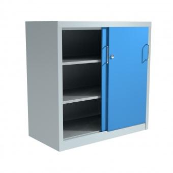 stahl schiebet ren schrank 100 cm hoch 100x40 cm bxt 2 b den g nstig. Black Bedroom Furniture Sets. Home Design Ideas