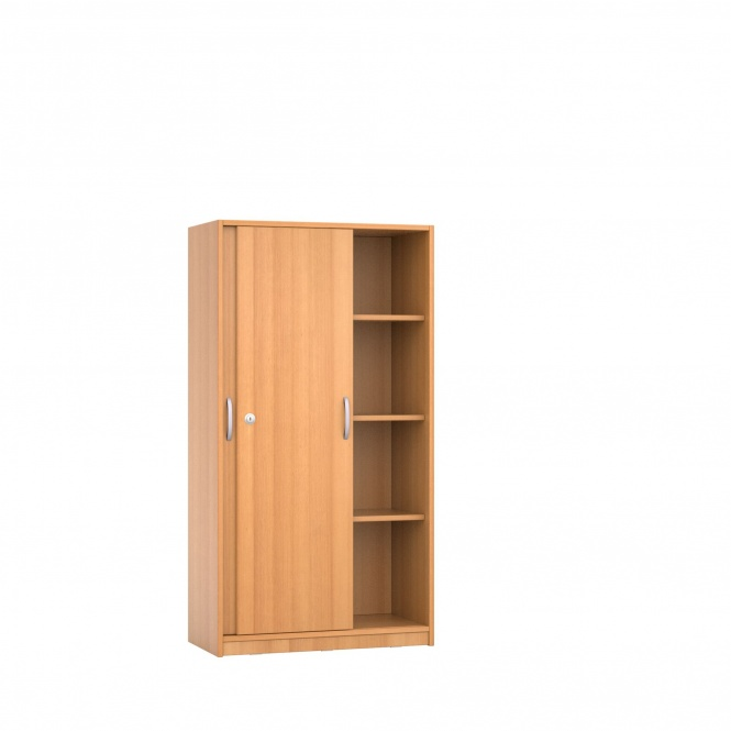 schrank 150 cm hoch 80x50 cm b t schiebet ren 3 b den 4oh g nstig online. Black Bedroom Furniture Sets. Home Design Ideas