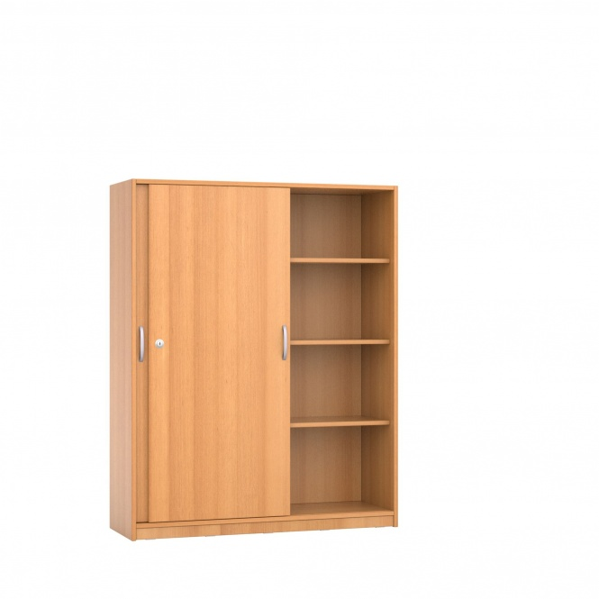 schrank 150 cm hoch 120x40 cm b t schiebet ren 3 b den 4oh g nstig online. Black Bedroom Furniture Sets. Home Design Ideas