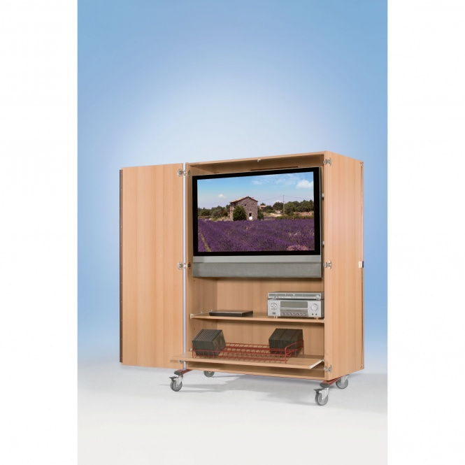 flat screen schrank fahrbar bis 44 zoll diagonale h he 184 cm 132x75 cm b t. Black Bedroom Furniture Sets. Home Design Ideas