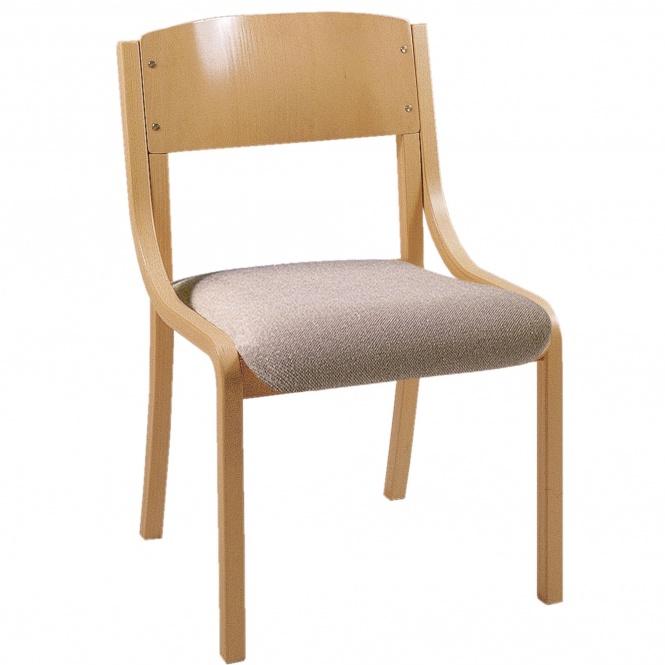 holz polsterstuhl ohne armlehnen mit sitzpolster g nstig online kaufen. Black Bedroom Furniture Sets. Home Design Ideas