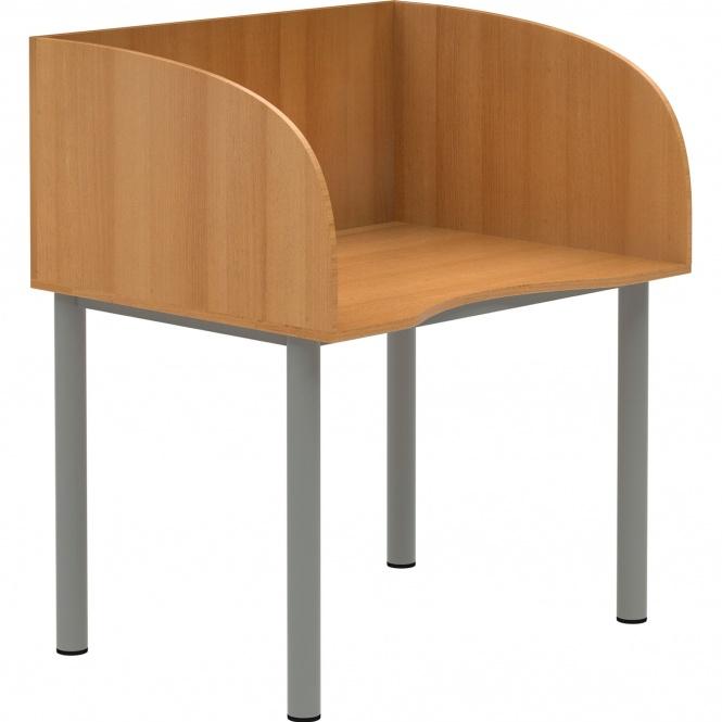 edv tisch mit sichtblende 100x80 cm b t h he w hlbar g nstig online kaufen. Black Bedroom Furniture Sets. Home Design Ideas