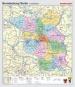 Wandkarte Berlin/ Brandenburg, phys.(Vorderseite), polit.(Rückseite), 147x171 cm,
