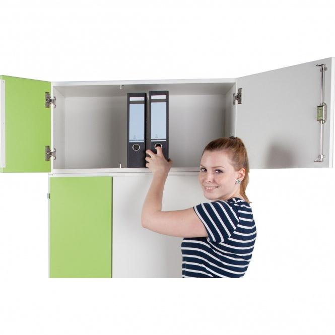 aufsatzschrank f r notebook ladestation h he 40 cm 80x50 b t kleine t r links erstling. Black Bedroom Furniture Sets. Home Design Ideas