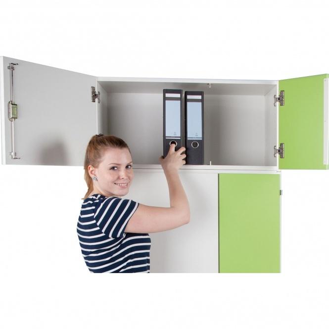 aufsatzschrank f r notebook ladestation h he 40 cm 80x50 b t kleine t r rechts erstling. Black Bedroom Furniture Sets. Home Design Ideas